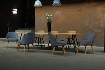 INDUSTRIAL BAR & DINER / works berlin style:  mix of industrial and vintage furniture
