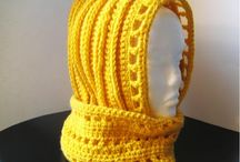 Scarves, cowls, scoodies and Shawls / Adult, child and Baby. Knit and crochet