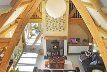 Oak Framed Houses / A few of our favourite oak framed houses. Carpenter Oak Ltd - hand crafted timber frame homes.