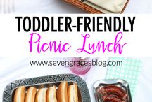 Perfect picnic ideas for toddlers / Picnics are great fun for toddlers and also means less mess to clear up when weaning or feeding messy eaters! #toddler #weaning #picnic #summer