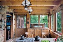 Stylowe drewniane wnętrza / stylowe, przytulne, drewniane i kipiące ciepłem wnętrza domów