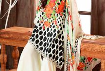 Charizma Combination Embroidered Lawn collection