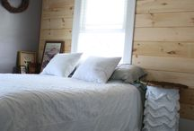 Natural Wood Accent Walls