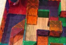 Magna-Tiles Mazes / Challenge Magna-Tects to build a Magna-Tiles Maze!  Stand pieces upright, lay them flat, and use 3-D Shapes to create tunnels and walls!
