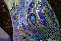 mosaics bench