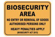 Biosecurity signage