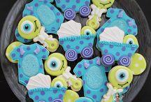 Monsters Inc royal icing cookies