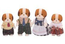 Sylvanian Families Rodzina Łaciatych Piesków / Wyjątkowe zabawki dla dzieci marki Sylvanian Families