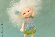 Willows Wardrobe / Miniature Hand knitted clothes for realpuki ball jointed dolls
