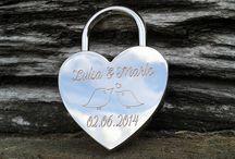 Hochzeitsschloss mit Gravur / Ein Liebesschloss, ein Hochzeitsschloss als Geschenk für den Bund fürs Leben.