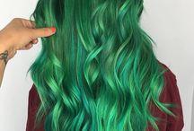 Hair - green