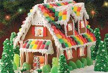 gingerbread house & sweeties