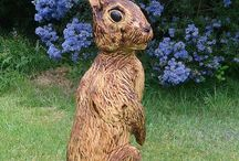 Wooden Carvings rabbit