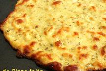 Massa de pizza sem farinha