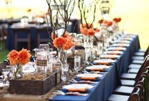 Navy blue &orange wedding