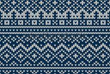 Fair isle-breien  Noorse patronen