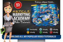#ArticleMarketing Academy #VideoTutorial Pack via @Toluaddy RT...