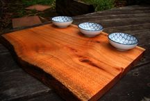 My Dipping Boards / This Board is a selection of my wood art that can be found at http://www.australianrescuedtimbers.com/