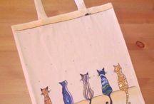 vászon táskák kézzel festve