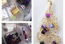 Handmade Jewelry / Handmade Artistic Wire Earrings
