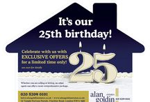 Anniversary leaflet designs / Estate agent #anniversary leaflet designs - These #leaflet designs give you the opportunity to show some of the houses you've sold in the area, or tie the campaign in with a #birthday promotion to encourage sellers to call you for a #valuation. #Anniversaryleaflet #leafletdesigns