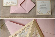 Wedding invitation inspiration / Beautiful wedding invitation and save the date inspiration