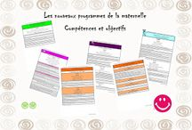 Compétences et objectifs nouveaux programmes de la maternelle