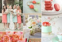Coral & Mint Wedding Colors / Here at Plan The Day, we love coral and mint and we want to inspire brides with coral and mint green wedding color themes.