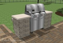 Grill Station and Outdoor Kitchen Plans / Beautiful grill station and outdoor kitchen designs for your patio.  Download installation plans at MyPatioDesign.com