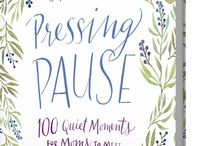 Pressing Pause / Kids bickering? Schedule jam-packed? Dishes and laundry both piled up high? Perhaps it's time you pressed pause. || These 100 encouraging devotions written for moms by Karen Ehman and Ruth Schwenk will help you begin each day with scripture, drawing on God's power, ingesting His Word, and learning practical ways to love and serve more like His son. / by Karen Ehman