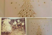 confezioni regalo. / Confezione regalo con albero in pizzo e segnaposti stellati