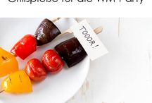WM Party Rezepte Deutschland / Rezepte zur WM und EM mit tollen Ideen für Fingerfood, Häppchen und Speisen in Schwarz-rot-gold oder Fußball Dekoration
