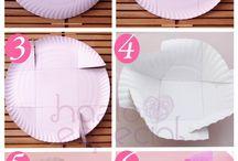 Cesta con piatto di carta