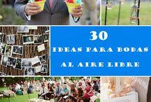 Boda al aire libre / Consejos para bodas al aire libre http://www.buscabodas.com/blog/articulo-boda/11/2015-05-13/30-trucos-para-organizar-una-boda-al-aire-libre