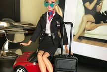 Barbie flight attendant