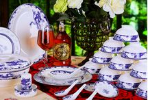 Blue and white porcelain / This is typical Chinese ornament