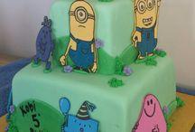 mr men & minions cake