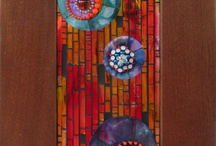 abstract mosaic flowers