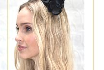 Black Fascinators & Headpieces by Derby & Power / Black racewear millinery options - perfect for Spring Racing (Derby Day in particular!)