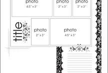 Scrapbook sketches 5+ photos