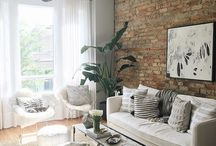 Walls Of BRICK / Interior spaces featuring exposed brick.