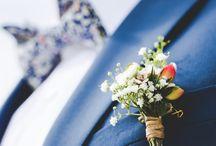 Blumen für den Bräutigam