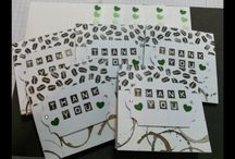 3 x 3 mini thank you cards using scraps of DSP