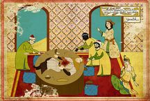 Classic Film Scenes as Ottoman Miniatures Fuse Cultures