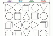 Shape worksheet for kids / This page has a lot of Free printable Shape worksheet for kids