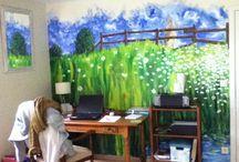 Fresques / Animer une chambre d'enfant, un lieu de passage différemment, créer son univers, avoir la tête dans les étoiles, autant de manière d'être ailleurs, ... contactez-moi, gene.babe2@gmail.com