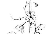 Letras y flores para decopage