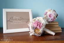 Fabric flower bouquets by Bukieteria