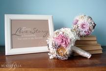 Fabric flower bouquets by Bukieteria