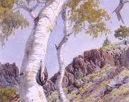 Aborigine art by Albert Namatjira